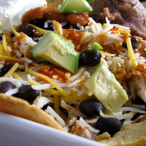 Skinny Loaded Nachos with Turkey, Beans and Cheese