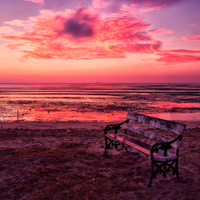 by Charliemagne Unggay - Landscapes Beaches ( Hope, Chair, Chairs, Sitting )
