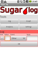 Screenshot of Sugar log