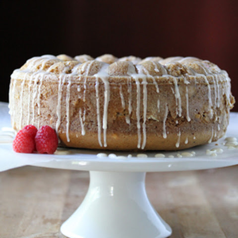 Raspberry Hazelnut Bundt Cake