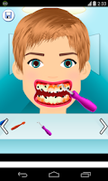Screenshot of teeth clean games