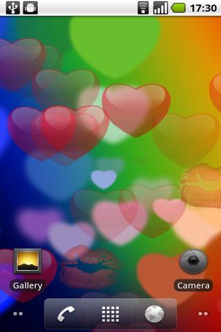 Valentine's Day Flying Hearts