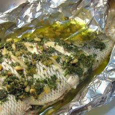Lemon and Parsley Whole Baked Fish