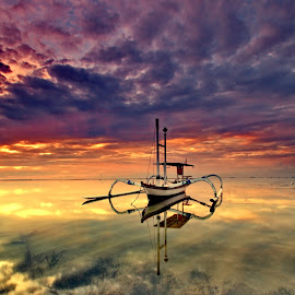 Boats Fly Morning Pick by Hendra Gunawan - Transportation Boats
