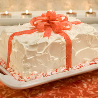 Peppermint-wrapped Ice Cream Cake