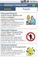 Screenshot of ICW -Personal Finance Magazine