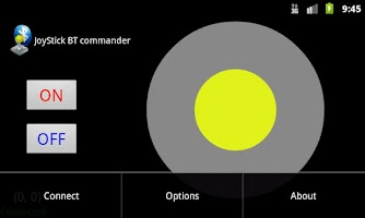 Screenshot of Joystick bluetooth Commander