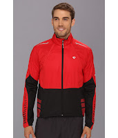 Pearl Izumi - Elite Barrier Convertible Cycling Jacket (True Red/Black) - Apparel