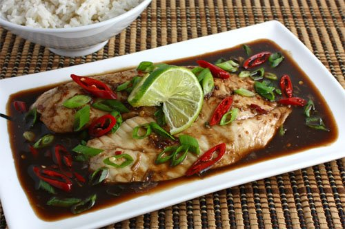Tilapia Baked in Tamarind Sauce