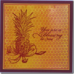 LRoberts Pineapple Blessing Texture Background Card