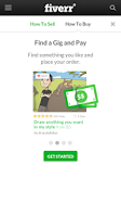 Screenshot of Fiverr Mobile