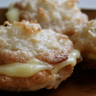 Coconut Macaroons With Meyer Lemon Curd
