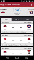 Screenshot of Arkansas Razorbacks Gameday