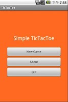 Screenshot of Simple TicTacToe Game