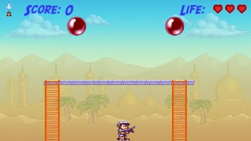 Screenshot of Bubble Trouble Pop (Pang 1989)