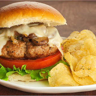 Sherry-Braised Turkey Mushroom Burgers