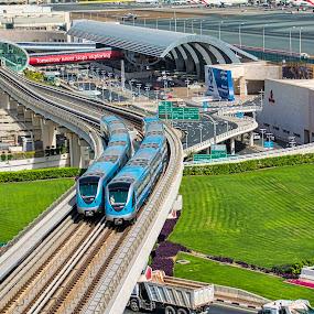 metro by Jigs Crisostomo - Transportation Other ( #dubaimetro, #metro, #train )