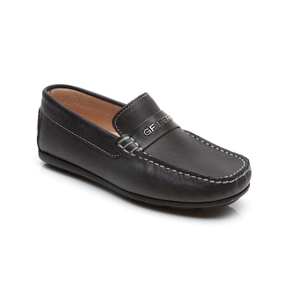 GF Ferre Branded Leather Loafer SHOE