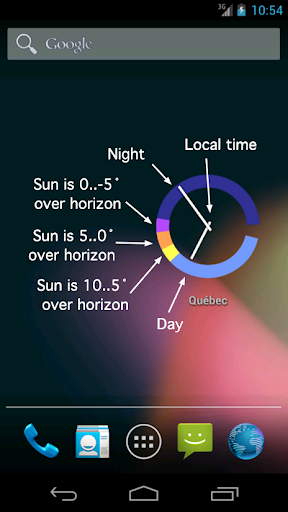 Sun Clock Widget - screenshot
