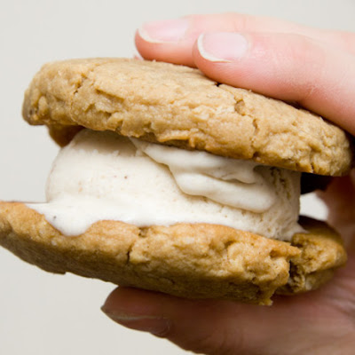 Banana Peanut Butter Ice Cream Sandwiches