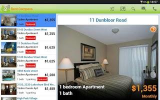 Screenshot of Apartment Rentals in Canada