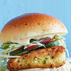 Panko-Crusted Fishwiches with Wasabi Tartar Sauce