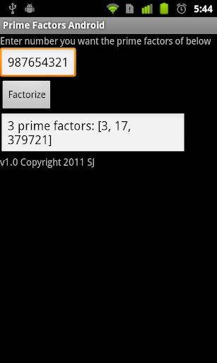 SJ Prime Factors