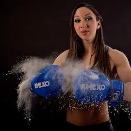 Boum! by Josée Houle - Sports & Fitness Boxing ( girl, floor, d800, boxer, nikon,  )