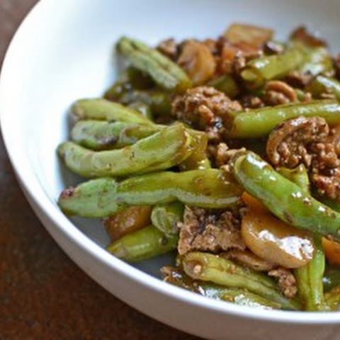 Green Bean and Ground Chicken Stir Fry