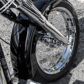 Shiny wheels by Vibeke Friis - Transportation Motorcycles ( harley )