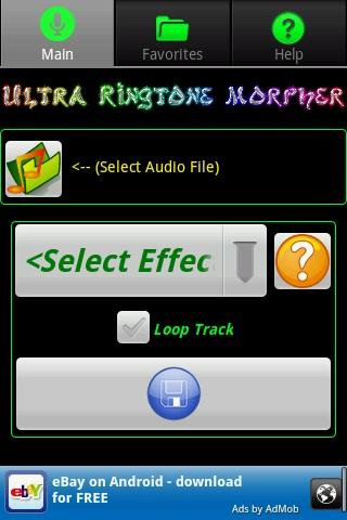 ultra-ringtone-morpher for android screenshot