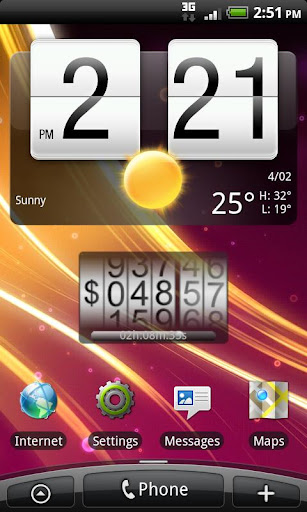 Data counter widget for Android