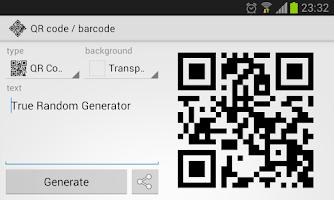 Screenshot of True Random Generator