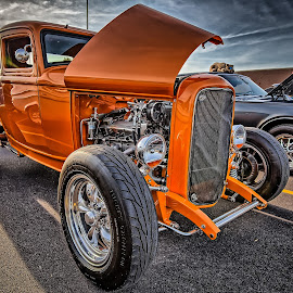 Orange Coupe by Ron Meyers - Transportation Automobiles