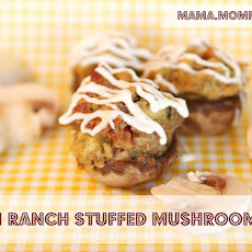 Bacon Ranch Stuffed Mushrooms