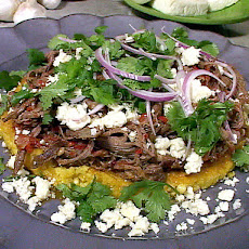 Fresh Corn Pancakes Topped with Cheese: Cachapas