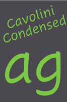 Screenshot of Cavolini Condensed FlipFont
