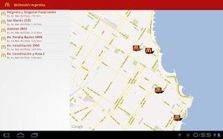 Screenshot of McDonald's Argentina
