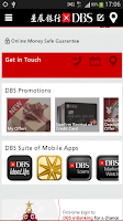 Screenshot of DBS mBanking Hong Kong