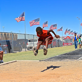 Long Jump by Kathy Suttles - Sports & Fitness Other Sports