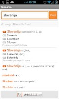 Screenshot of Termania - slovarji
