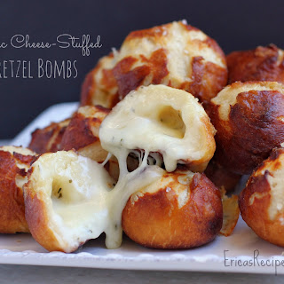 Garlic Cheese-Stuffed Pretzel Bombs