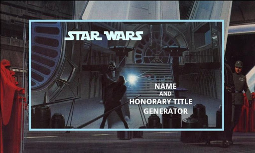 Create Your Star Wars Name 6