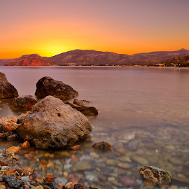 Serenity by George Paximadakis - Landscapes Sunsets & Sunrises ( dawn, greece, sunshine, george paximadakis, sunrise, crete, sitia, dusk )