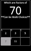 Screenshot of Math Choices