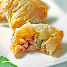 Lobster & Shitake Phyllo Triangles