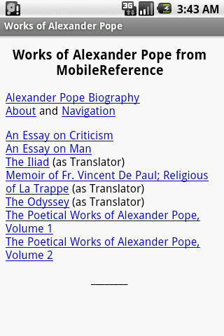 Works of Alexander Pope