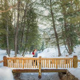 Bridge in the Forest by Glenn Pearson - People Couples ( utah, sundance, wedding photographer )