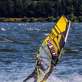 by Thomas Larkin - Sports & Fitness Surfing ( columbia river, wind surfer, hood river, hood river oregon, windsurfer )