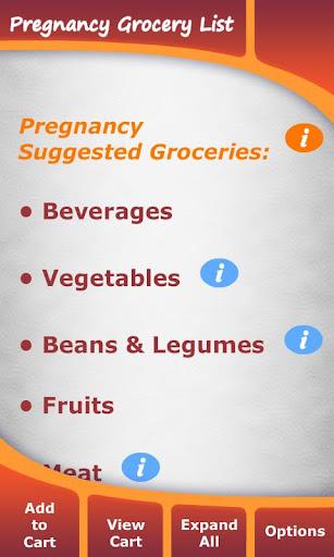 Pregnancy Grocery List